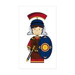 Cute Little Roman Soldier Sticker (50 Pk)