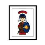 Cute Little Roman Soldier Framed Panel Print