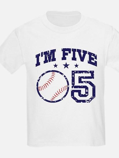 Five Year Old Baseball T-Shirt