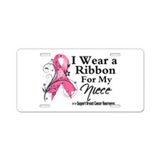 Niece - Breast Cancer Aluminum License Plate