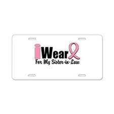 Pink Sister-in-Law Aluminum License Plate