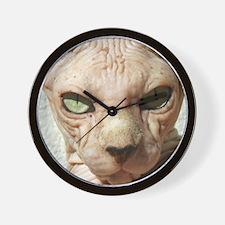 Hairless Sphynx Cat Wall Clock