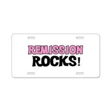 Remission Rocks Aluminum License Plate