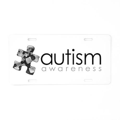 PuzzlesPuzzle (Black) Aluminum License Plate