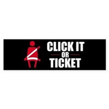 Click It or Ticket Bumper Bumper Sticker