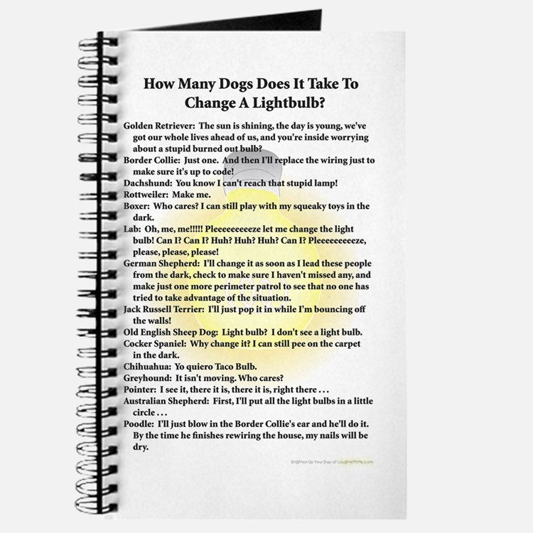 Dogs Change Lightbulb Journal