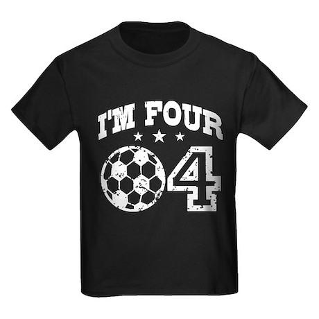 Four Year Old Soccer Kids Dark T-Shirt