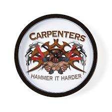Carpenters Hammer It Wall Clock