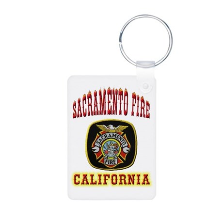 Sacramento Fire Department Aluminum Photo Keychain