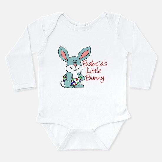 Babcia's Little Bunny Long Sleeve Infant Bodysuit