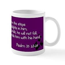 Purple Psalm 37:23-24 Mug