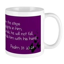 Purple Psalm 37:23-24 Mug