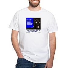 Cat Blue Screen Shirt