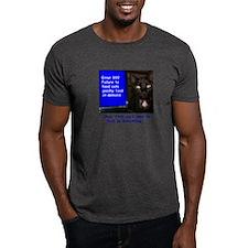 Cat Blue Screen T-Shirt