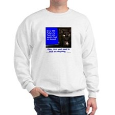 Cat Blue Screen Sweatshirt