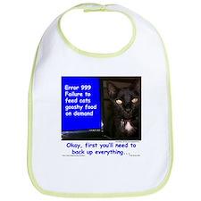 Cat Blue Screen Bib