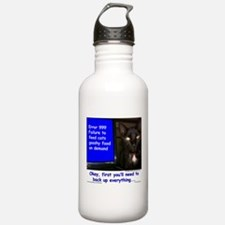 Cat Blue Screen Water Bottle