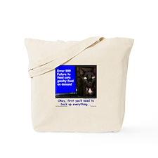 Cat Blue Screen Tote Bag
