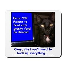Cat Blue Screen Mousepad