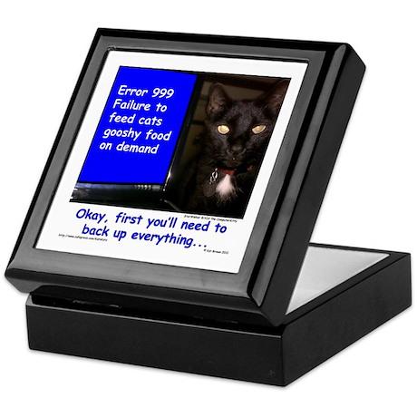 Cat Blue Screen Keepsake Box