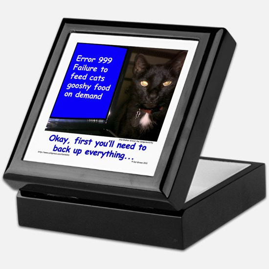 Cat Blue Screen Keepsake Box