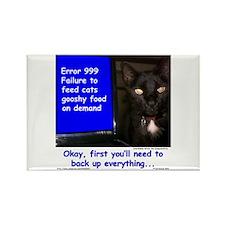 Cat Blue Screen Rectangle Magnet