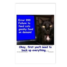 Cat Blue Screen Postcards (Package of 8)