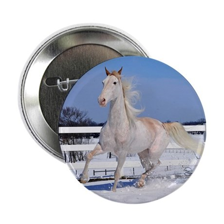 "Red Roan in Snow 2.25"" Button (10 pack)"
