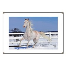 Red Roan in Snow Banner