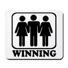 Winning Threesome Mousepad