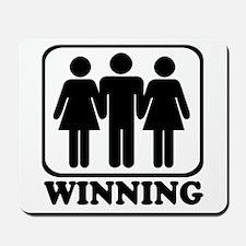 Winning Threesome Mousepad