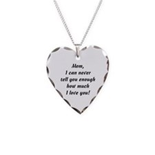 Mom, I Love You Necklace