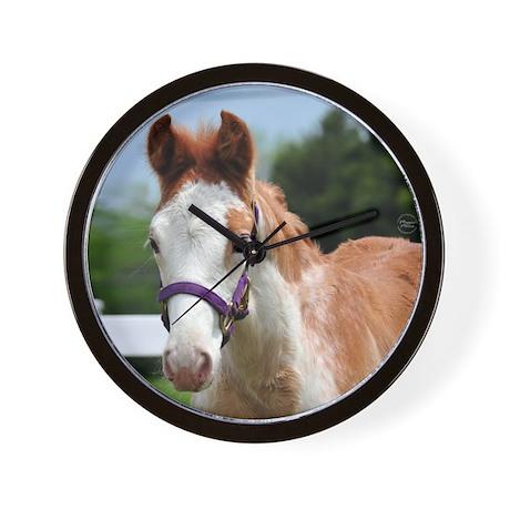 Strawberry Roan Foal Wall Clock