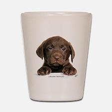 Chocolate Labrador Retriever Shot Glass