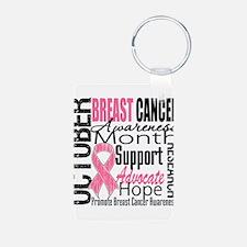 BreastCancerAwarenessMonth Keychains