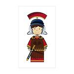 Cute Little Roman Soldier Sticker (10 Pk)