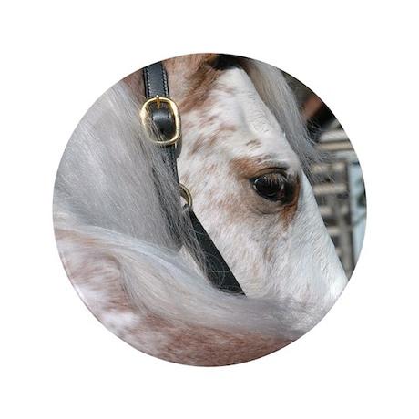 "Roan Walking Horse 3.5"" Button"