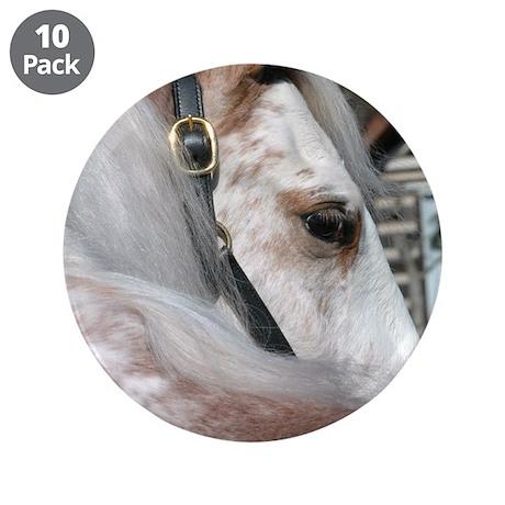 "Roan Walking Horse 3.5"" Button (10 pack)"