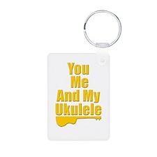 funny ukulele Keychains