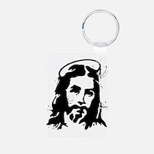 Stencil Jesus Keychains