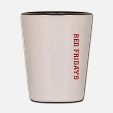 Red Fridays Side Shot Glass