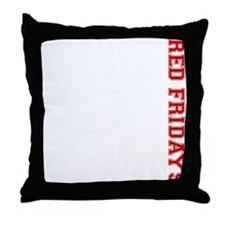 Red Fridays Side Throw Pillow