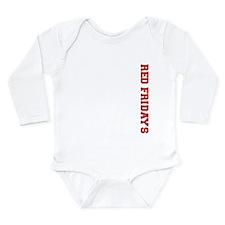 Red Fridays Side Long Sleeve Infant Bodysuit