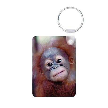 Baby Orangutan Aluminum Photo Keychain