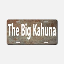 Big Kahuna Aluminum License Plate