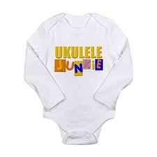 funny ukulele Long Sleeve Infant Bodysuit