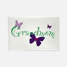 Grandmom Butterflys Rectangle Magnet