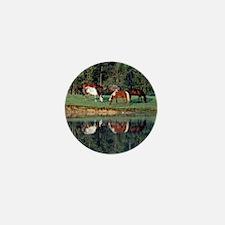 Horse Reflection Mini Button