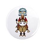 "Roman Gladiator Riding Horse 3.5"" Button (100"