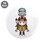 "Roman Gladiator Riding Horse 3.5"" Button (10"